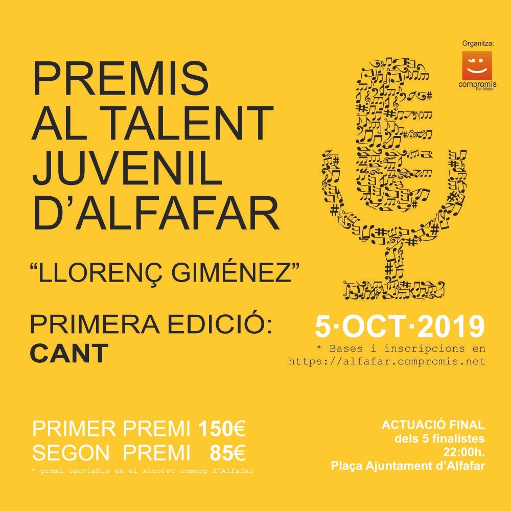 Premis Talent Juvenil d'Alfafar Lloreç Giménez
